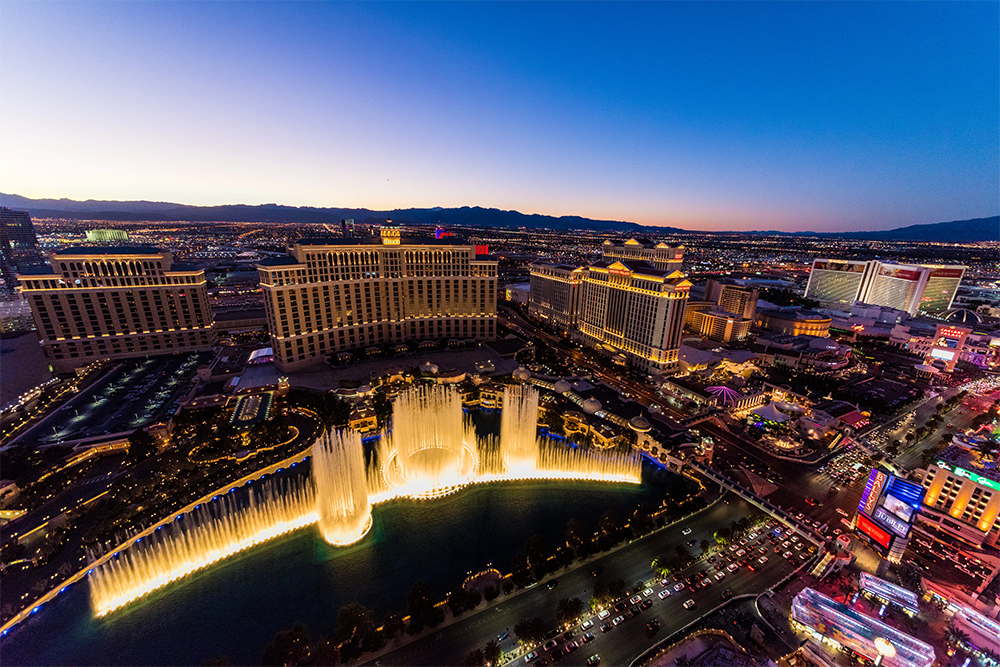Your standard aerial view of Las Vegas