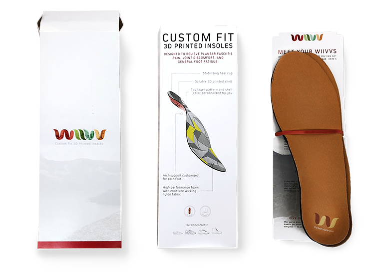 Dylan's custom personalized 3D printed WIIV insoles