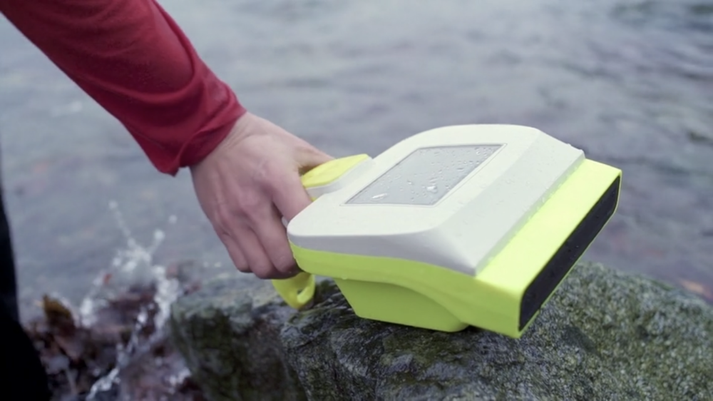 VodaSafe has developed an ultrasonic underwater scanning device called the AquaEye