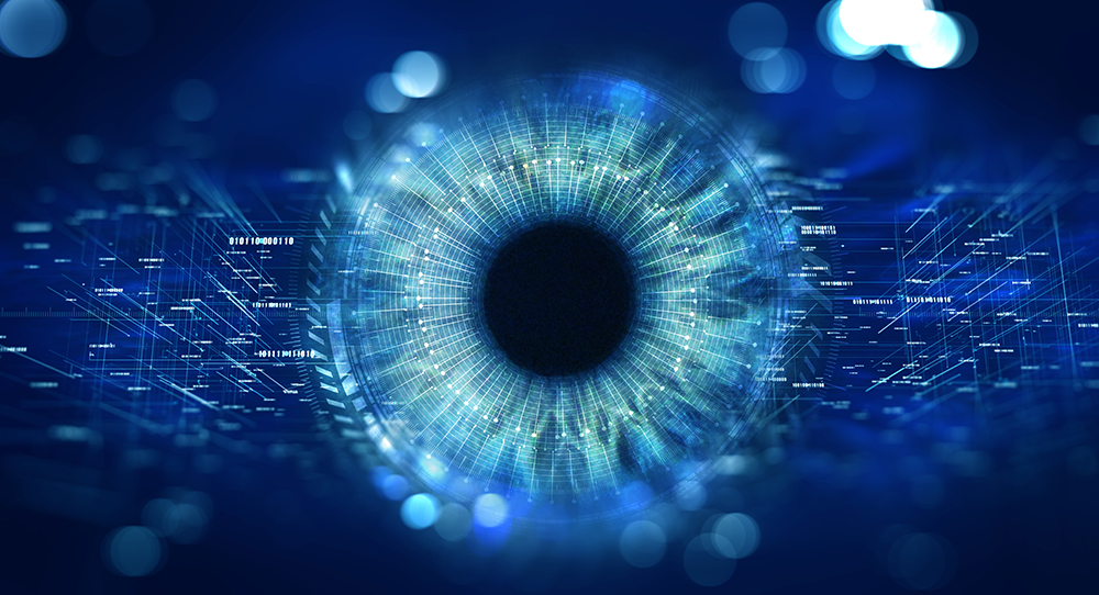 Retina scan with computer vision